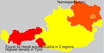 Surname Hendl in Austria