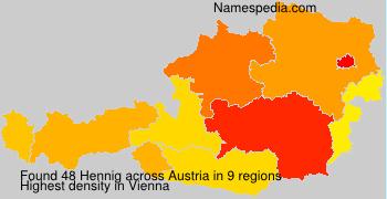 Surname Hennig in Austria