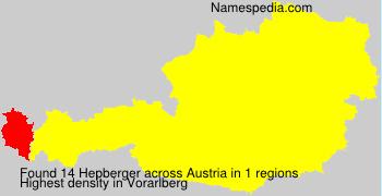 Surname Hepberger in Austria