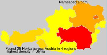Surname Herka in Austria