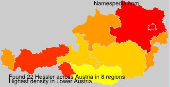 Surname Hessler in Austria