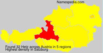 Surname Hetz in Austria
