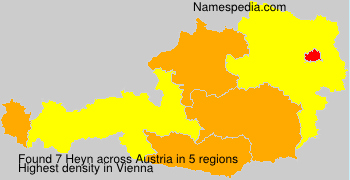Surname Heyn in Austria