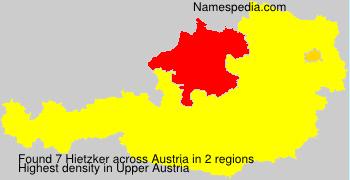 Surname Hietzker in Austria