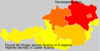 Surname Hinger in Austria