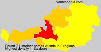 Surname Hinreiner in Austria