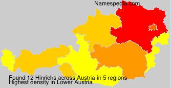 Surname Hinrichs in Austria