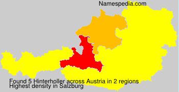 Surname Hinterholler in Austria