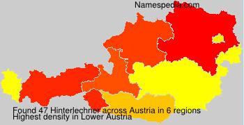 Familiennamen Hinterlechner - Austria