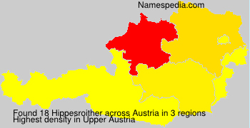 Surname Hippesroither in Austria
