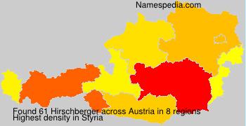 Surname Hirschberger in Austria