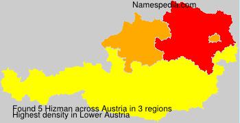 Surname Hizman in Austria