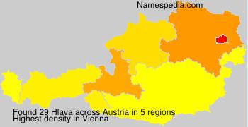 Surname Hlava in Austria