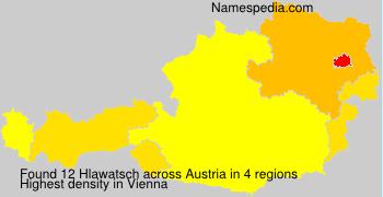 Surname Hlawatsch in Austria