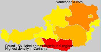 Surname Hobel in Austria