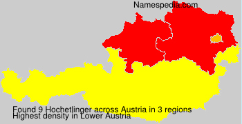 Familiennamen Hochetlinger - Austria