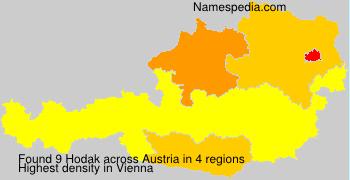 Familiennamen Hodak - Austria