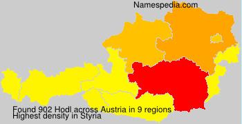 Surname Hodl in Austria