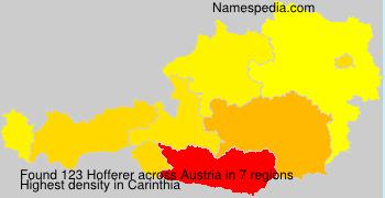Surname Hofferer in Austria