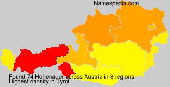 Surname Hohenauer in Austria