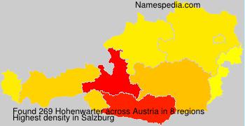 Familiennamen Hohenwarter - Austria