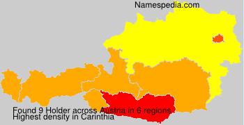 Surname Holder in Austria