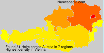 Surname Holm in Austria