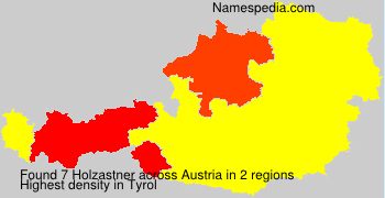 Surname Holzastner in Austria