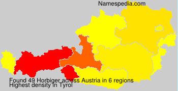 Familiennamen Horbiger - Austria