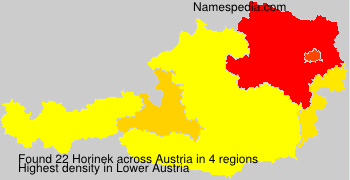 Surname Horinek in Austria