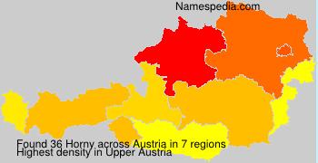 Surname Horny in Austria
