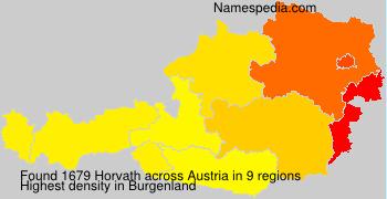 Surname Horvath in Austria