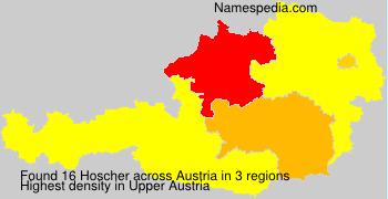 Surname Hoscher in Austria