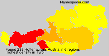 Surname Hotter in Austria
