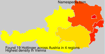 Familiennamen Hottinger - Austria