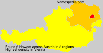 Surname Howadt in Austria