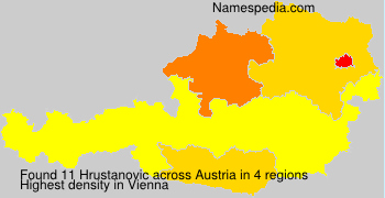 Surname Hrustanovic in Austria