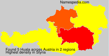 Surname Huala in Austria