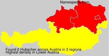 Surname Hubscher in Austria