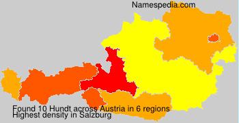 Surname Hundt in Austria