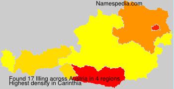 Familiennamen Illing - Austria