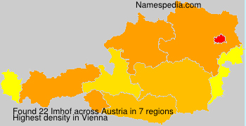 Familiennamen Imhof - Austria