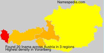 Familiennamen Inama - Austria