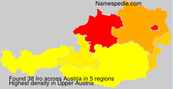 Familiennamen Iro - Austria