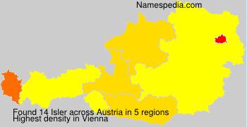 Surname Isler in Austria