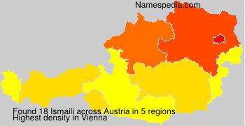 Surname Ismaili in Austria