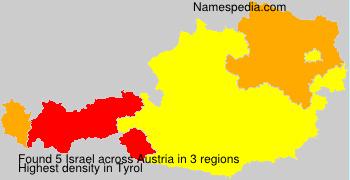 Surname Israel in Austria