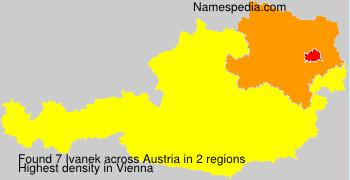 Surname Ivanek in Austria