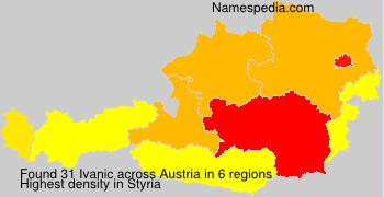 Surname Ivanic in Austria