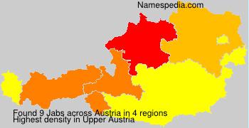 Familiennamen Jabs - Austria